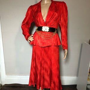 Vintage Boutique Red Polyester skirt Set size 4